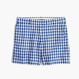 j Crew Lightweight short in gingham  linen sz 10